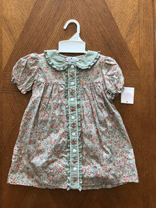 Petit Ami Floral Stitch Dress with Bloomers