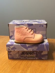 Josmo Leather Walking Shoe Peach Ostrich