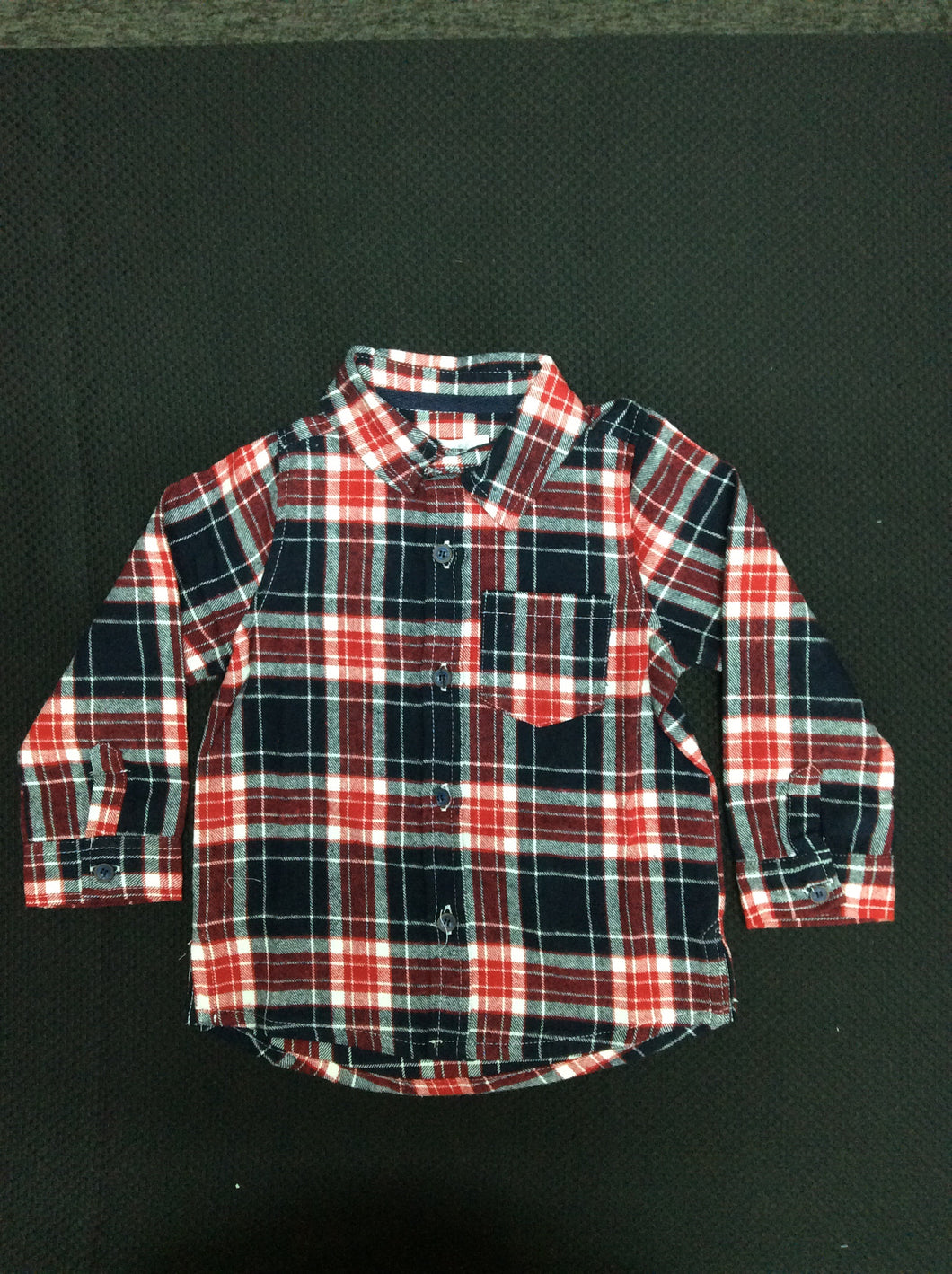Mudpie Red Plaid Flannel Button Down
