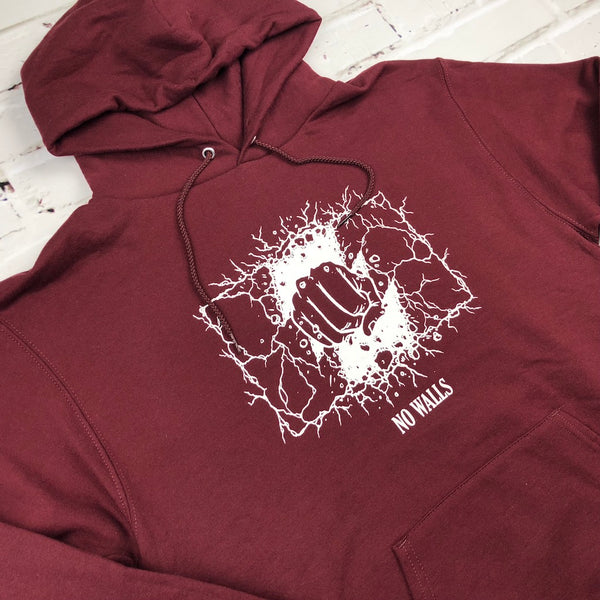 The Hundreds No Walls Pullover Hoodie - Burgundy