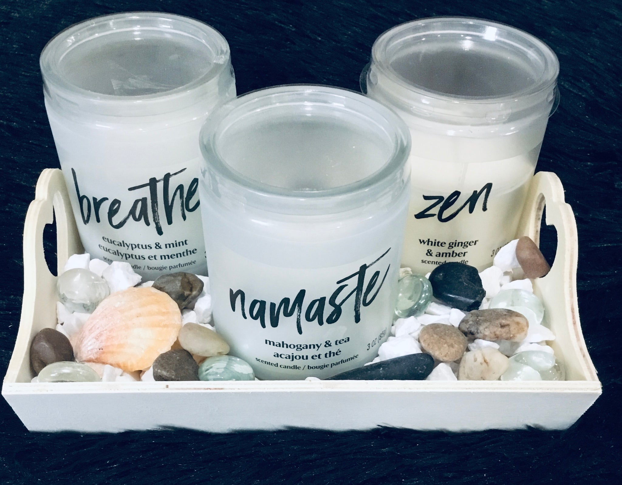 Zen Candle Set and Tray