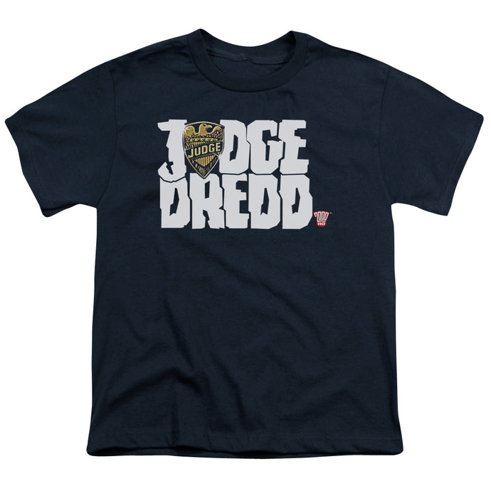 Judge Dredd - Logo Short Sleeve Youth 18/1 Tee - Special Holiday Gift