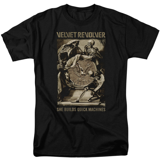 Velvet Revolver - Quick Machines Short Sleeve Adult 18/1 Tee - Special Holiday Gift