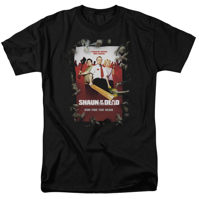 Shaun Of The Dead - Poster Short Sleeve Adult 18/1 Tee - Special Holiday Gift