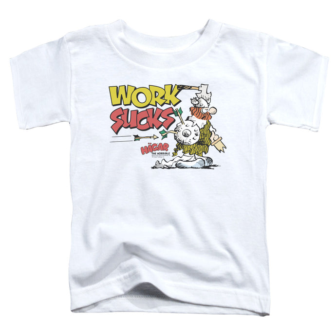 Hagar The Horrible - Work Sucks Short Sleeve Toddler Tee - Special Holiday Gift