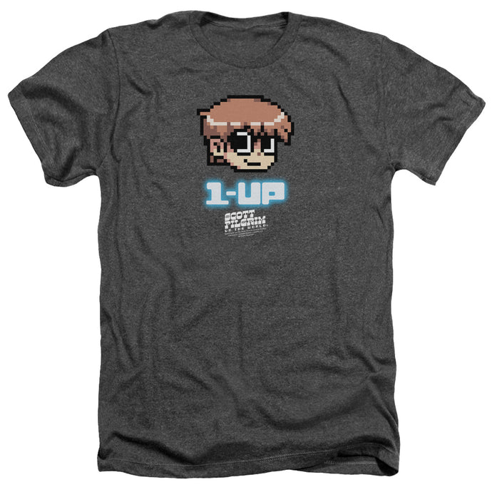 Scott Pilgrim - 1 Up Adult Heather - Special Holiday Gift