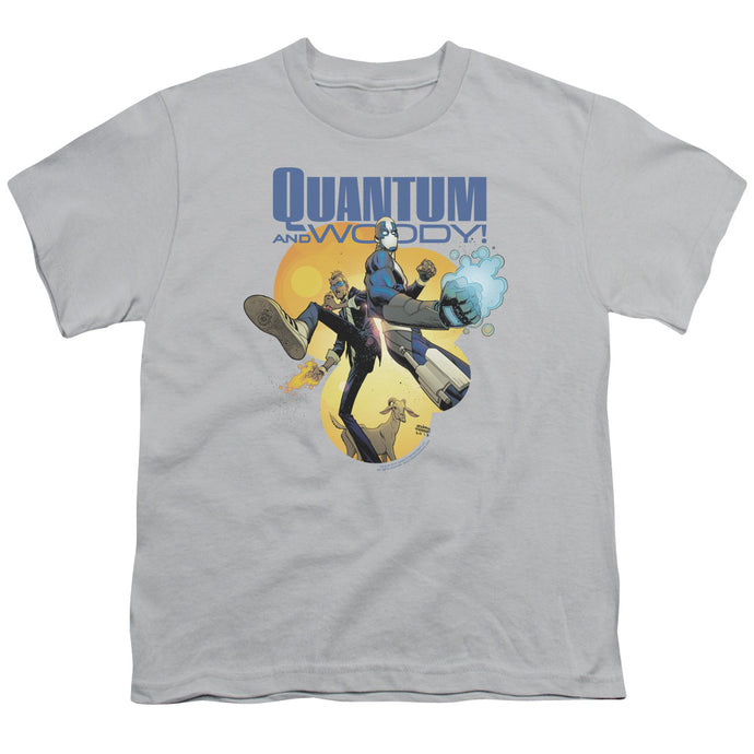 Quantum And Woody - Three's A Crowd Short Sleeve Youth 18/1 Tee - Special Holiday Gift