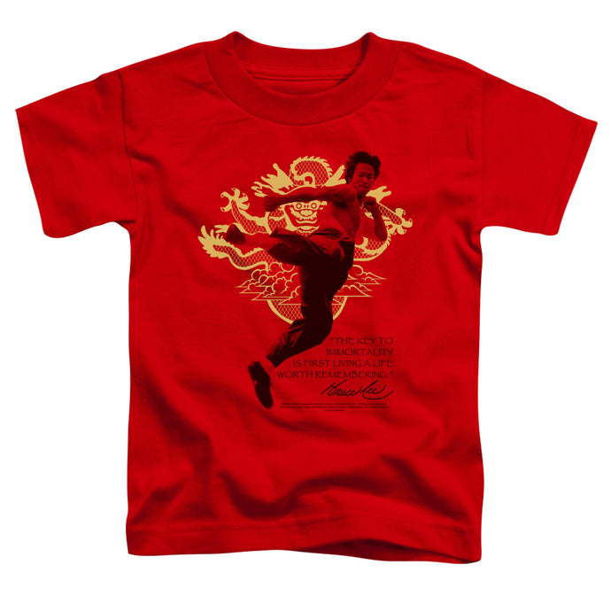 Bruce Lee - Immortal Dragon Short Sleeve Toddler Tee - Special Holiday Gift