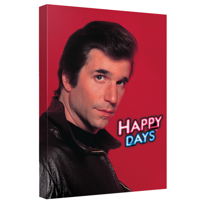 Happy Days - Red Fonz Canvas Wall Art With Back Board - Special Holiday Gift