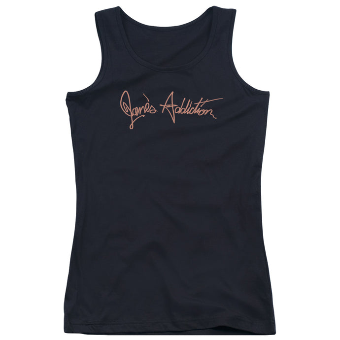 Janes Addiction - Script Logo Juniors Tank Top - Special Holiday Gift