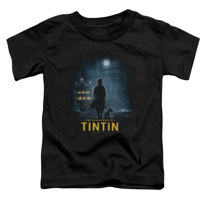 Tintin - Title Poster Short Sleeve Toddler Tee - Special Holiday Gift