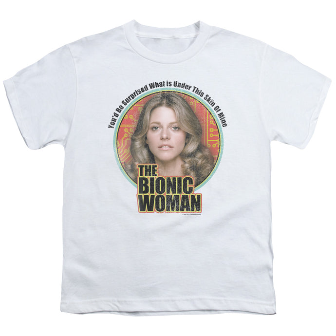 Bionic Woman - Under My Skin Short Sleeve Youth 18/1 Tee - Special Holiday Gift