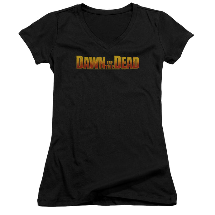 Dawn Of The Dead - Dawn Logo Junior V Neck Tee - Special Holiday Gift