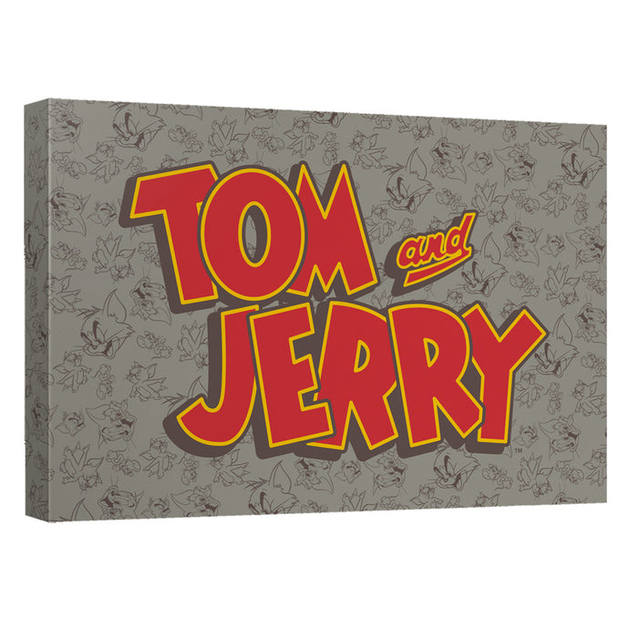Tom And Jerry - Logo Canvas Wall Art With Back Board - Special Holiday Gift