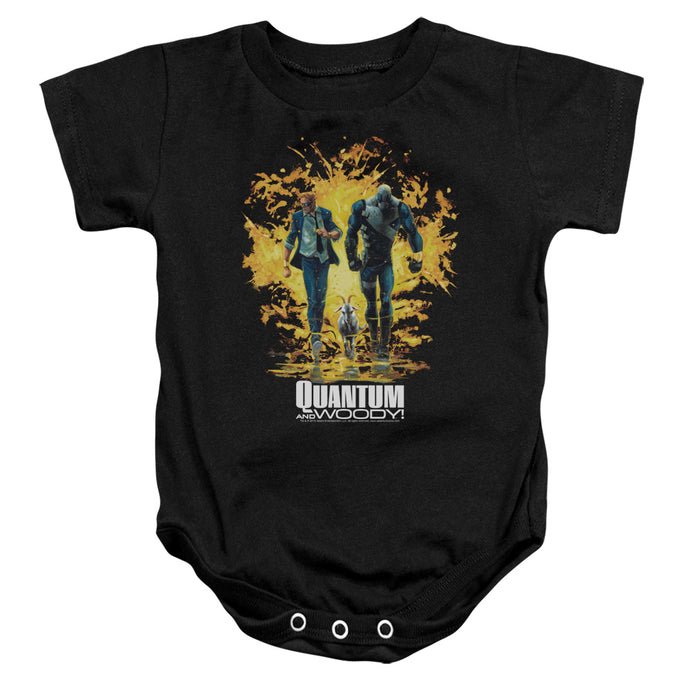 Quantum And Woody - Explosion Infant Snapsuit - Special Holiday Gift
