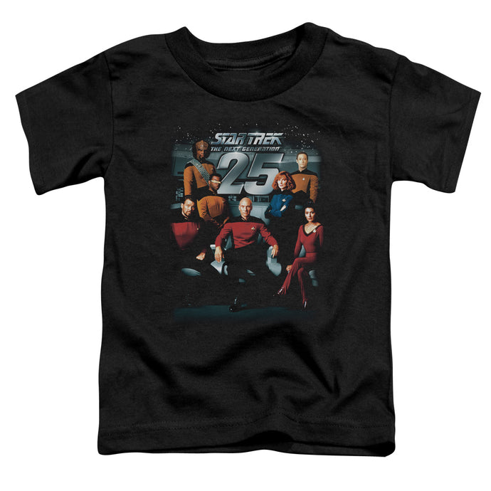Star Trek - 25 Th Anniversary Crew Short Sleeve Toddler Tee - Special Holiday Gift