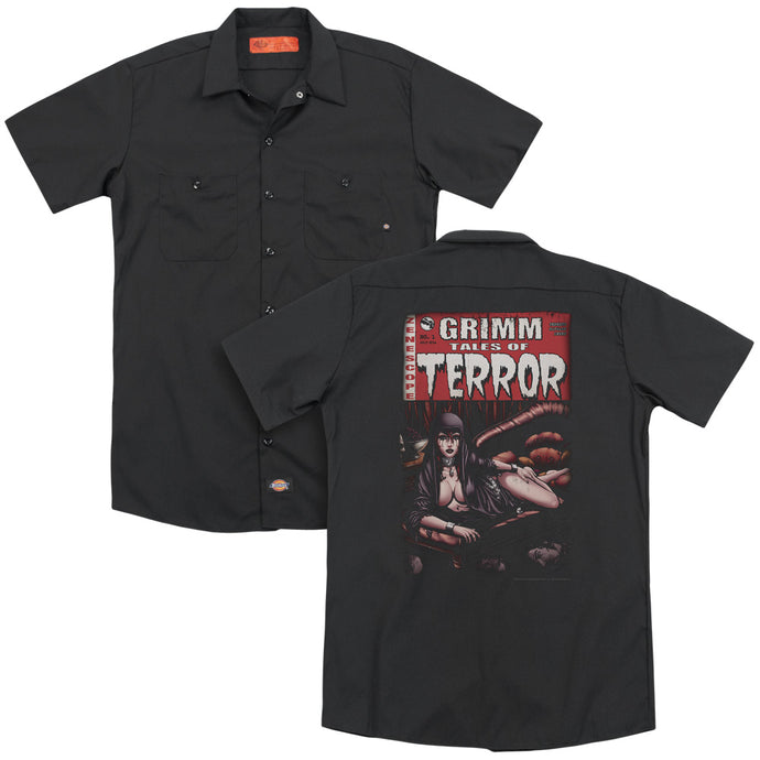 Zenescope - Terror Cover(Back Print) Adult Work Shirt - Special Holiday Gift