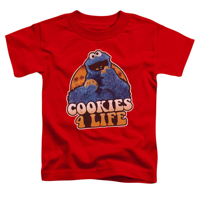 Sesame Street - Cookies 4 Life Short Sleeve Toddler Tee - Special Holiday Gift