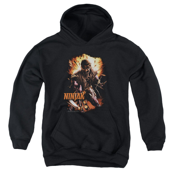 Ninjak - Fiery Ninjak Youth Pull Over Hoodie - Special Holiday Gift