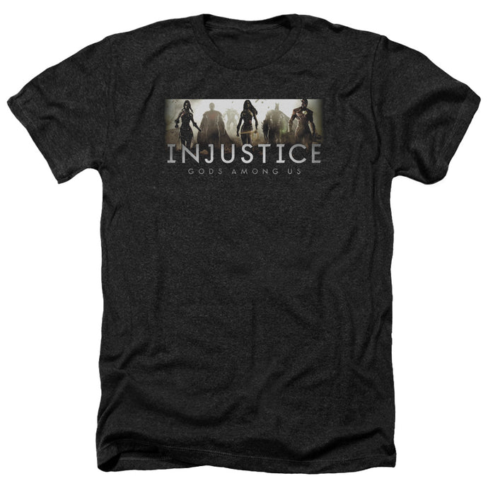Injustice Gods Among Us - Logo Adult Heather - Special Holiday Gift