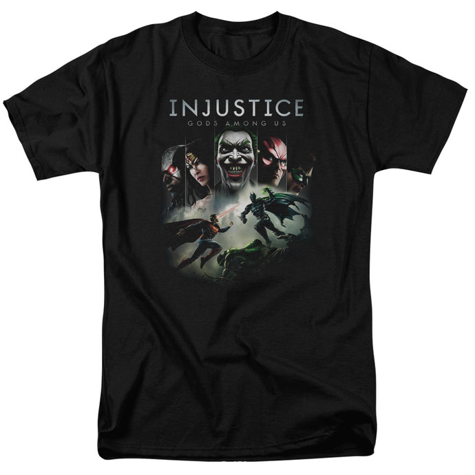 Injustice Gods Among Us - Key Art Short Sleeve Adult 18/1 Tee - Special Holiday Gift