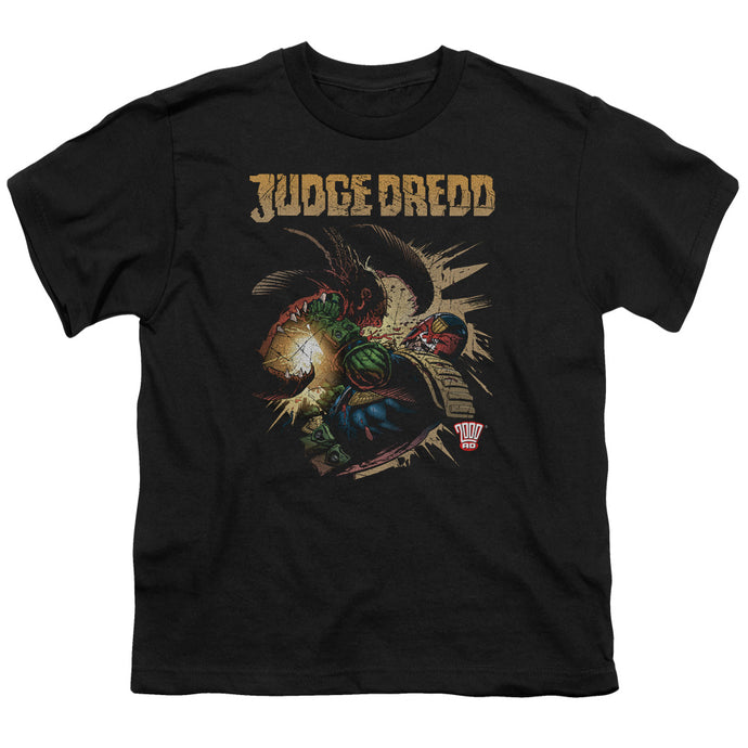 Judge Dredd - Blast Away Short Sleeve Youth 18/1 Tee - Special Holiday Gift