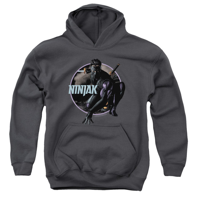 Ninjak - Crouching Ninjak Youth Pull Over Hoodie - Special Holiday Gift