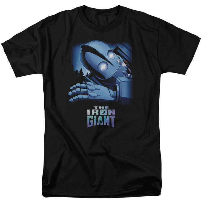 Iron Giant - Giant And Hogarth Short Sleeve Adult 18/1 Tee - Special Holiday Gift