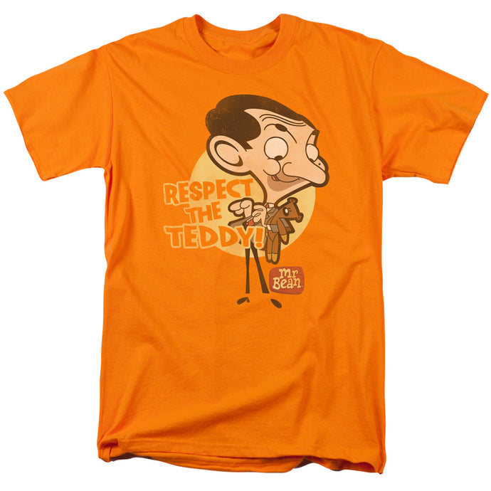 Mr Bean - Respect The Teddy Short Sleeve Adult 18/1 Tee - Special Holiday Gift