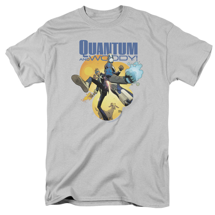 Quantum And Woody - Three's A Crowd Short Sleeve Adult 18/1 Tee - Special Holiday Gift