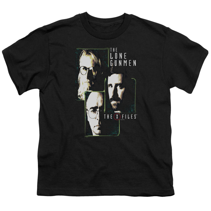 X Files - Lone Gunmen Short Sleeve Youth 18/1 Tee - Special Holiday Gift