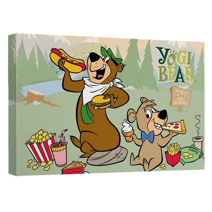 Yogi Bear - Lunch Break Canvas Wall Art With Back Board - Special Holiday Gift