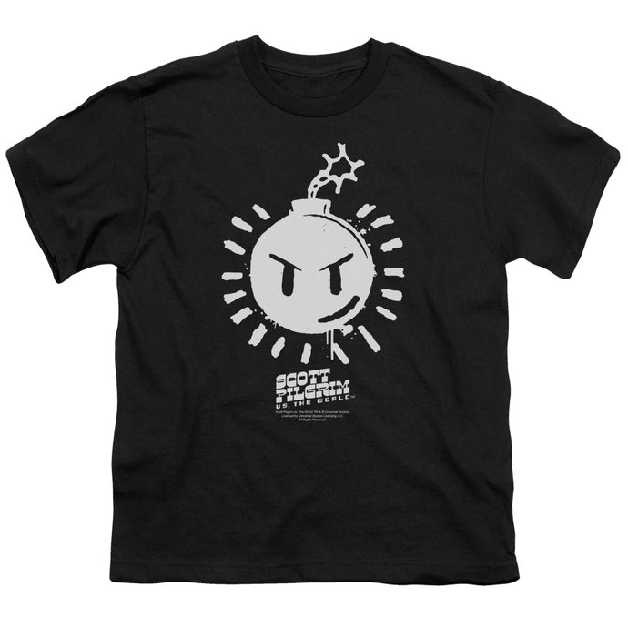 Scott Pilgrim - Sex Bob Omb Logo Short Sleeve Youth 18/1 Tee - Special Holiday Gift