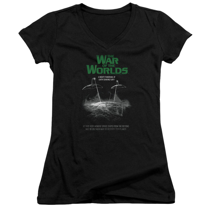 War Of The Worlds - Attack Poster Junior V Neck Tee - Special Holiday Gift