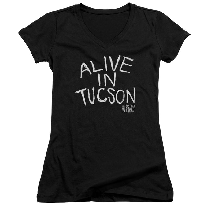 Last Man On Earth - Alive In Tucson Junior V Neck Tee - Special Holiday Gift