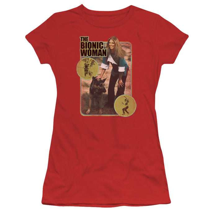 Bionic Woman - Jamie And Max Short Sleeve Junior Sheer - Special Holiday Gift