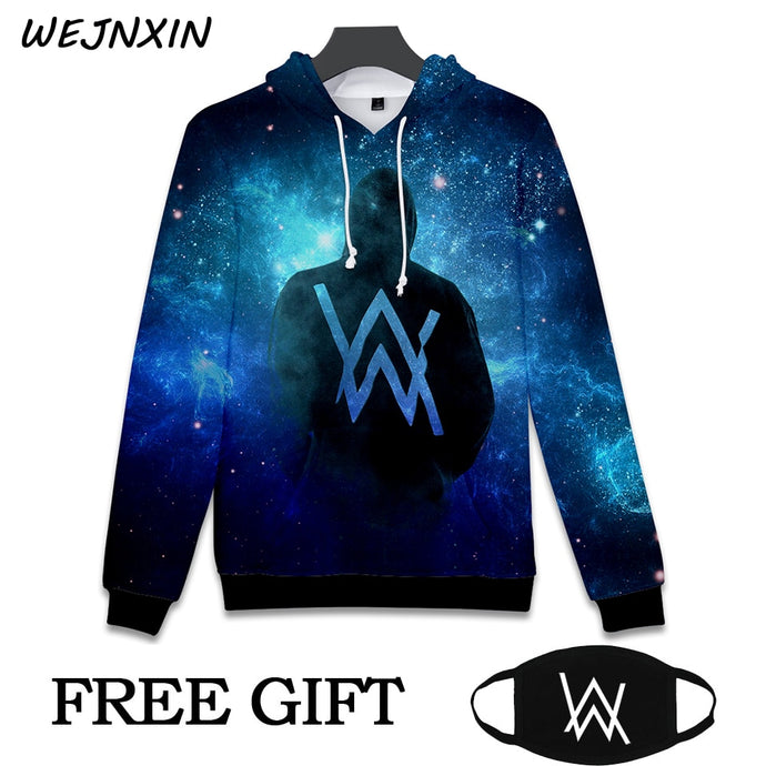 Alan Walker DJ Hooded Sweatshirt With Free Mask Gift 3D Printing Hip Hop Hoodies