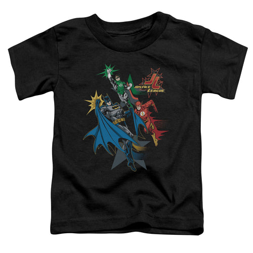 Jla - Action Stars Short Sleeve Toddler Tee - Special Holiday Gift