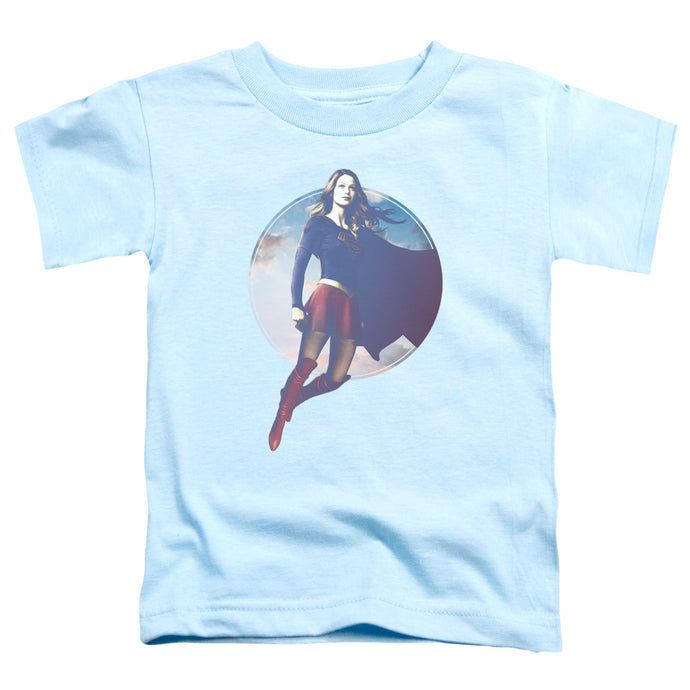 Supergirl - Cloudy Circle Short Sleeve Toddler Tee - Special Holiday Gift