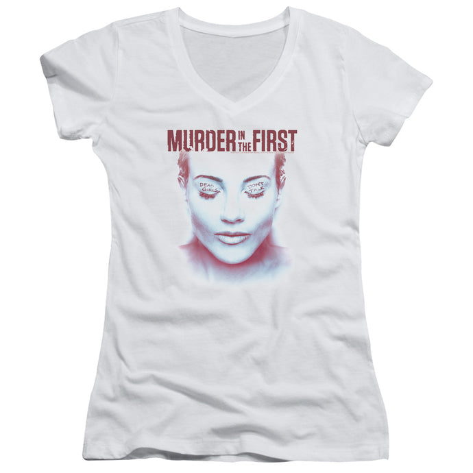 Murder In The First - Don't Talk Junior V Neck Tee - Special Holiday Gift