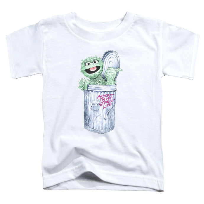 Sesame Street - About That Street Life Short Sleeve Toddler Tee - Special Holiday Gift