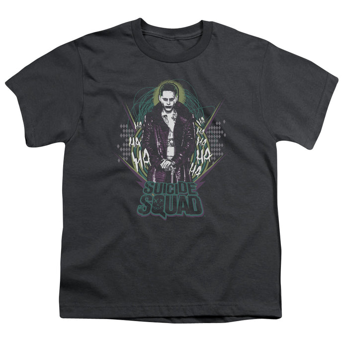 Suicide Squad - Suicide Joker Short Sleeve Youth 18/1 Tee - Special Holiday Gift