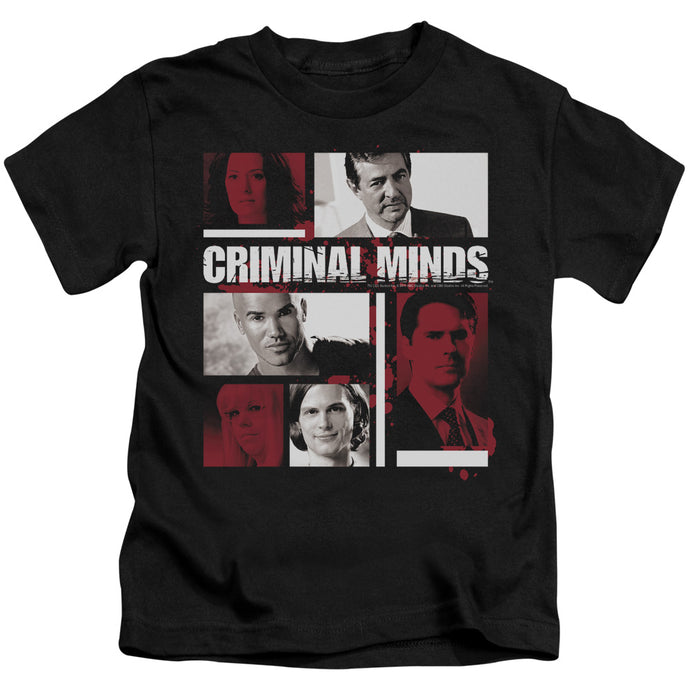 Criminal Minds - Character Boxes Short Sleeve Juvenile 18/1 Tee - Special Holiday Gift
