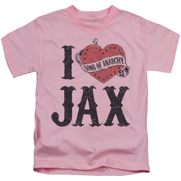 Sons Of Anarchy - I Heart Jax Short Sleeve Juvenile 18/1 Tee - Special Holiday Gift