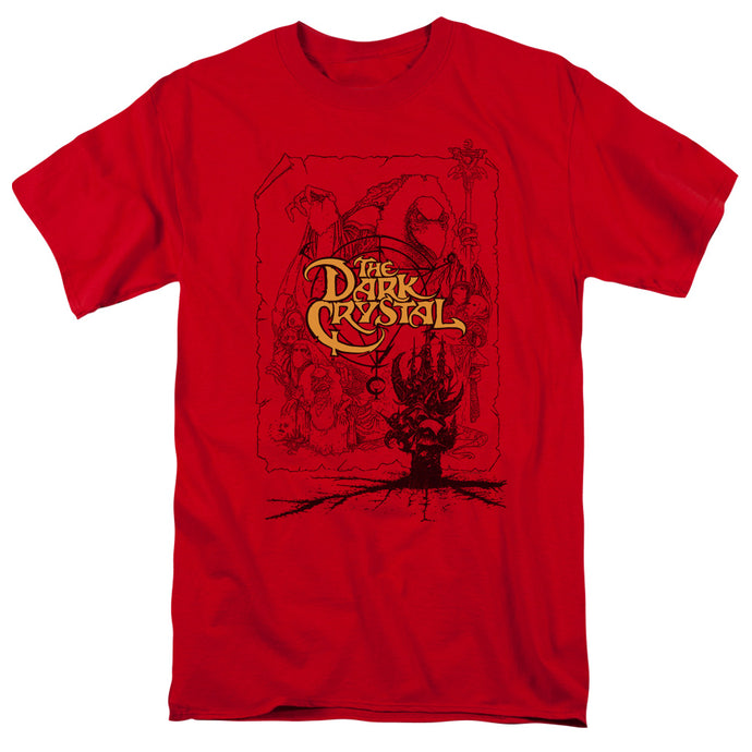 Dark Crystal - Poster Lines Short Sleeve Adult 18/1 Tee - Special Holiday Gift