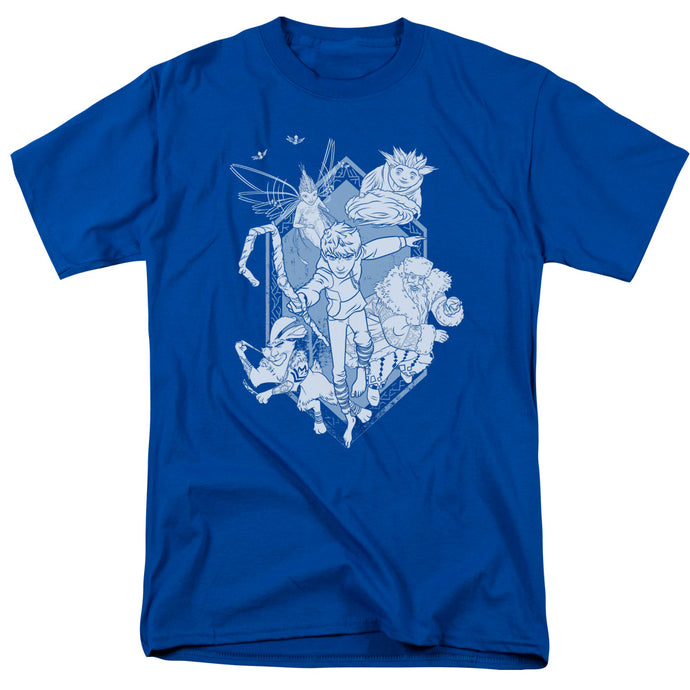Rise Of The Guardians - Coming For You Short Sleeve Adult 18/1 Tee - Special Holiday Gift