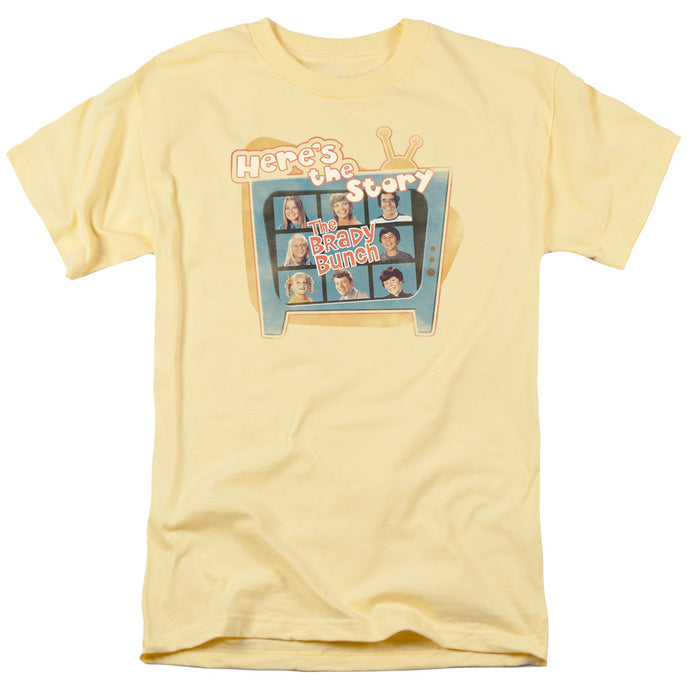 Brady Bunch - Here's The Story Short Sleeve Adult 18/1 Tee - Special Holiday Gift