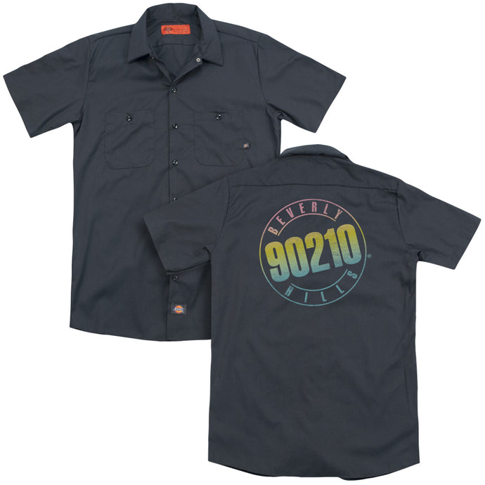 90210 - Color Blend Logo (Back Print) Adult Work Shirt - Special Holiday Gift