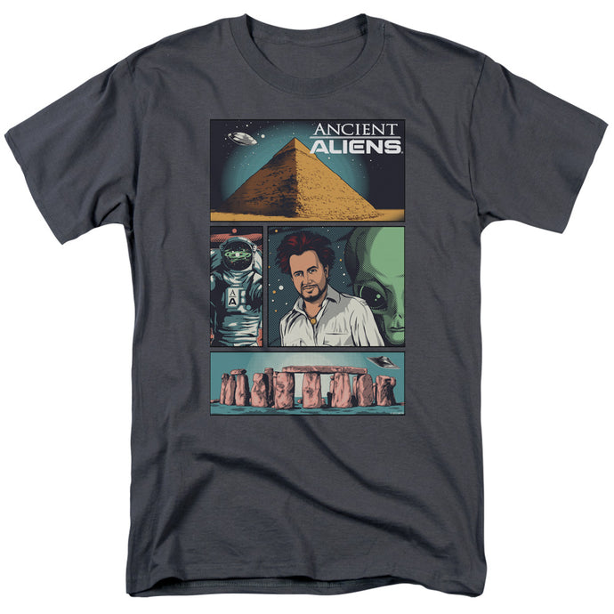 Ancient Aliens - Aliens Comic Page Short Sleeve Adult 18/1 Tee - Special Holiday Gift
