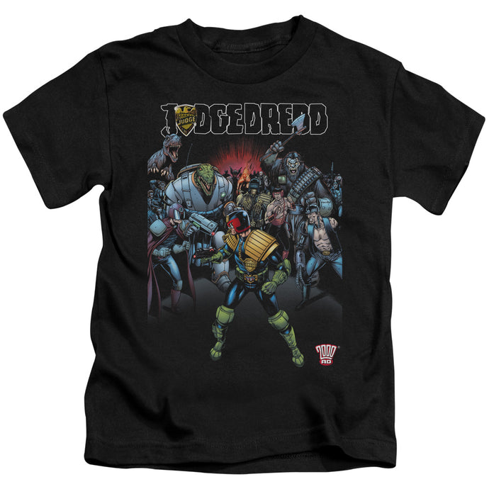 Judge Dredd - Behind You Short Sleeve Juvenile 18/1 Tee - Special Holiday Gift